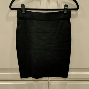 Arden B - Patterned Black Rayon Tube Mini